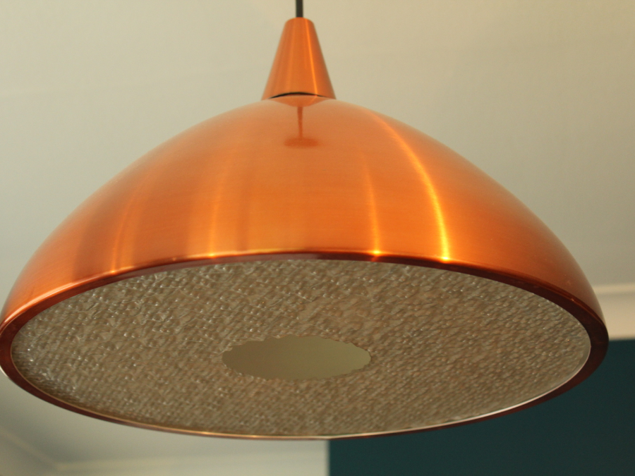 Brookhouse Vintage Danish Copper Pendant Light